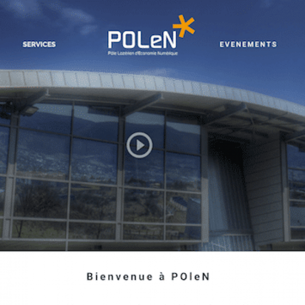 Wireframe réalisé par Laetitia Luciani dans le cadre de la refonte du site web de Polen