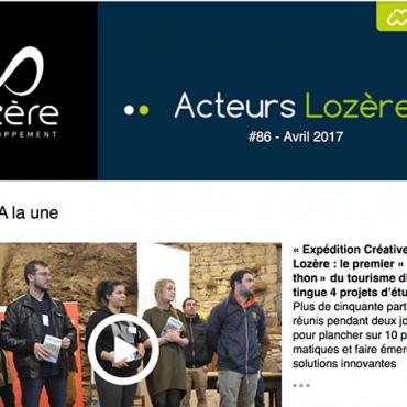 Refonte de la newsletter de Lozère Developpement par Laetitia Luciani