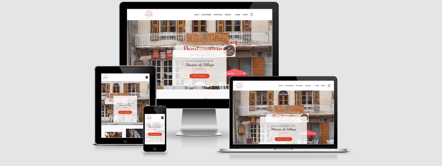 Site web responsive pour la boulangerie pâtisserie Maison de Village à Serverette Lozère