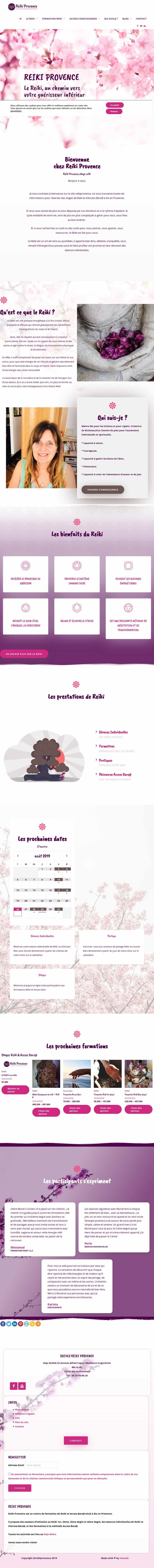 Le site Reiki Provence réalisé par Uluweb, dans l'Hérault