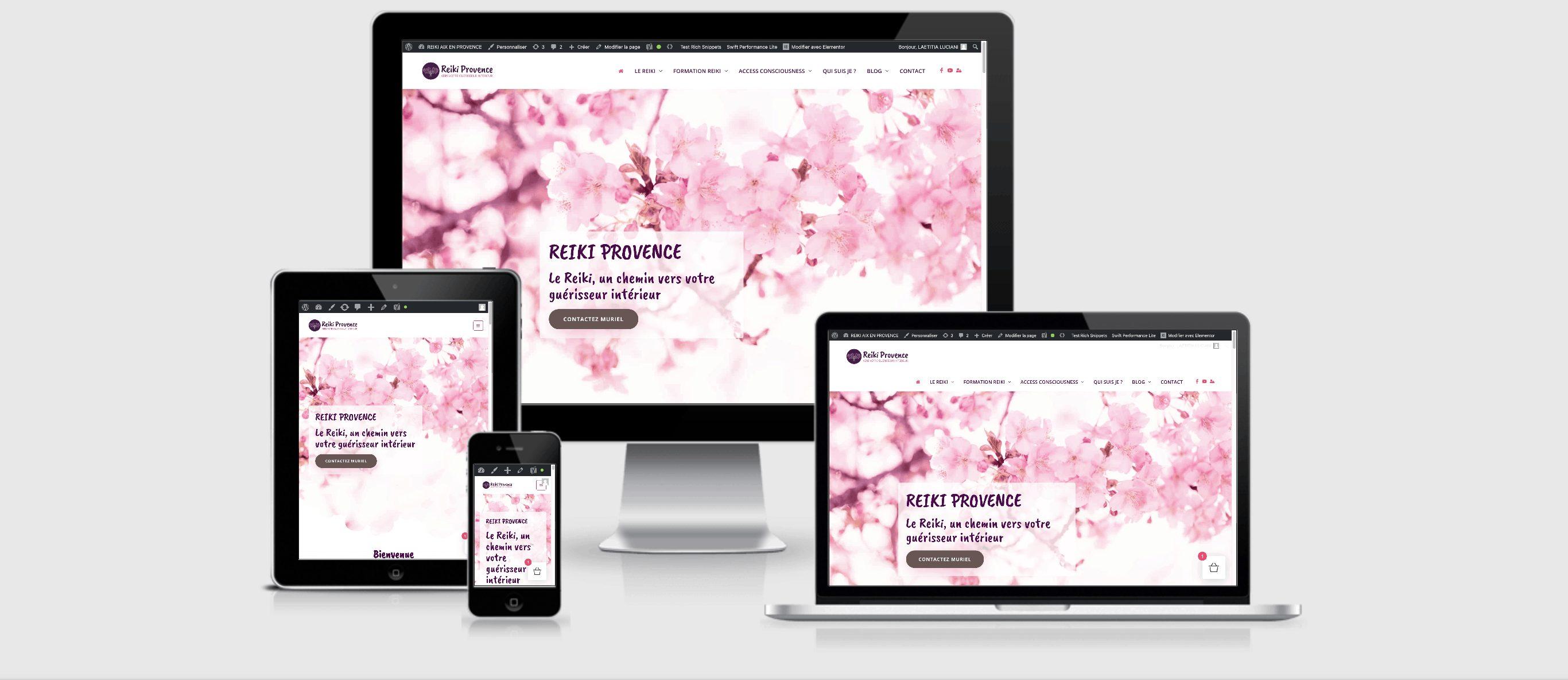 Le site Reiki Provence réalisé par Uluweb, dans l'Hérault, responsive