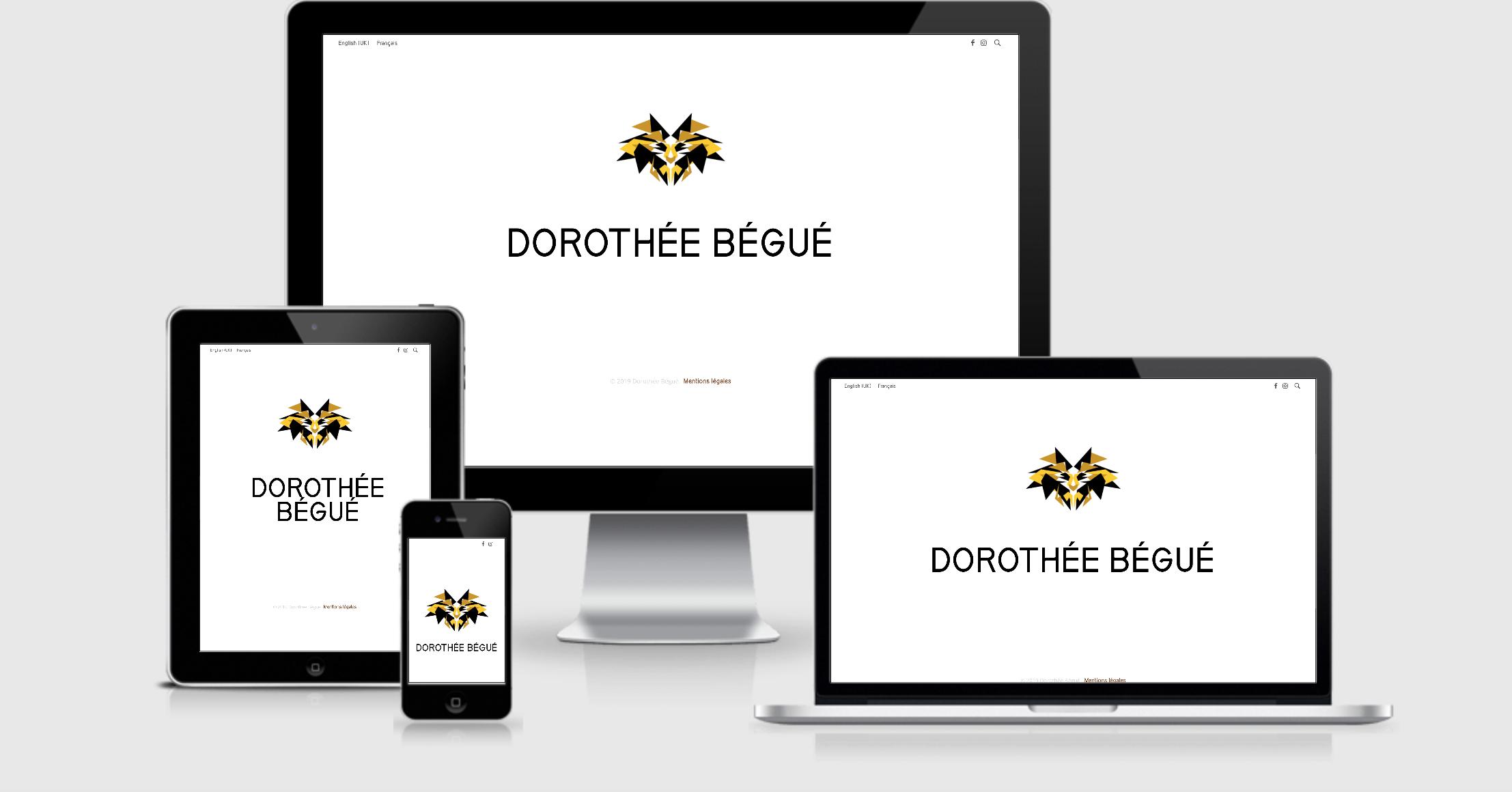 Création du site web Dorothée Bégué artiste plasticienne à Nantes par Uluweb